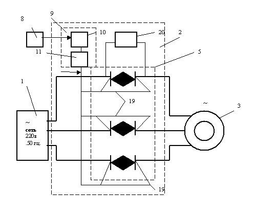 Блок - схема устройства экономии электроэнергии.
